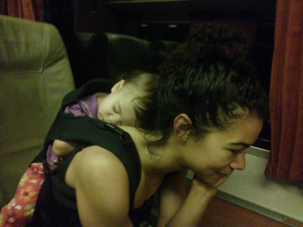 Snoozing on the train (Seattle to Portland)
